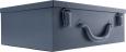 Plechový kufřík na přístroje a nástroje 33,5 x 11,5 x 25,5 cm