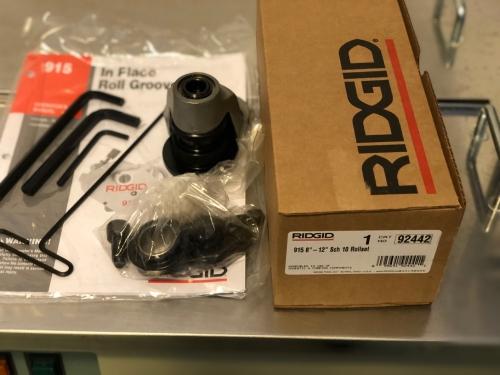 RIDGID 915, drážkovací sada 8-12˝