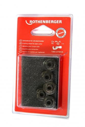 Rothenberger Řezné kolečka (5ks) Cu, Ms, Fe, Al