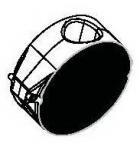 Svařovací nástavec čelisťový plochý 100 mm, black
